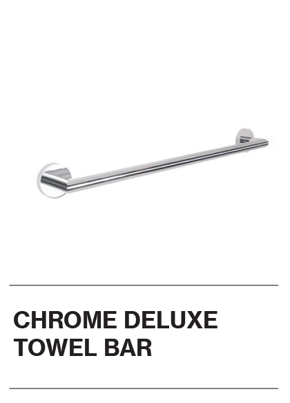 Chrome Deluxe Towel Bar