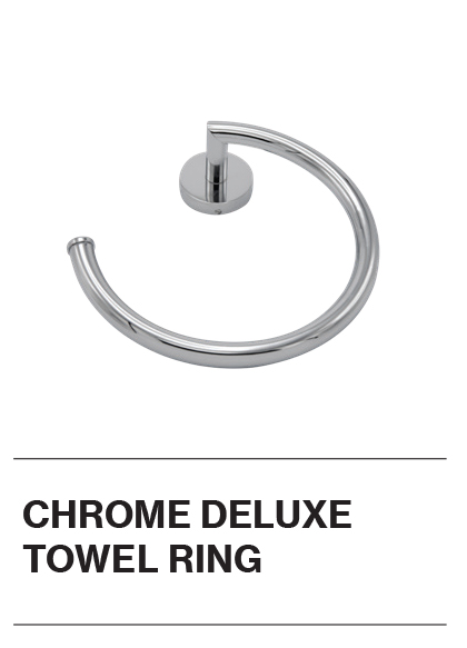 Chrome Deluxe Towel Ring
