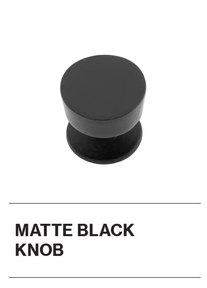 Matte Black Knob