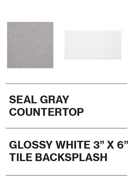 Seal Gray Countertop and Glossy White 3