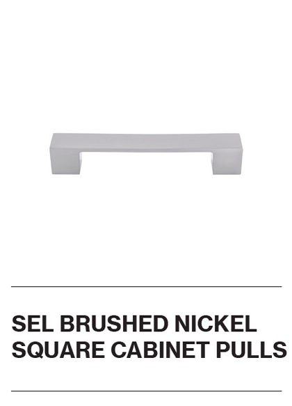 SEL Brushed Nickel Square Cabinet Pulls