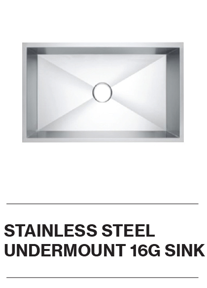 Stainless Steel Undermount 16G Sink